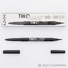 "1 NYX Two Timer - Dual Ended Eyeliner "" TT 01 - Jet Black ""   *Joy's cosmetics*"