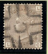 1880 Sg154 - 4d grey brown plate 17 (LC) with very scarce Newspaper Branch pmk.