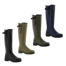 Le Chameau Womens Vierzon Jersey Black Green Wellies Wellington Boots Size 4-7