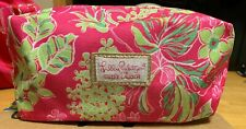 Lilly Pulitzer Estee Lauder Floral Cosmetic Makeup Bag