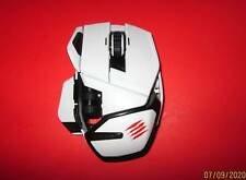 MAD CATZ M.O.U.S. 9 GAMING MOUSE WHITE UNTESTED FOR PARTS SOLD AS IS PLEASE READ
