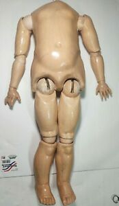 """ANTIQUE GERMAN COMPOSITION DOLL 26"""" BODY LARGE FOR BISQUE HEAD"""