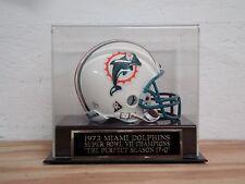 Football Mini Helmet Display Case With A Miami Dolphins Perfect Season Nameplate