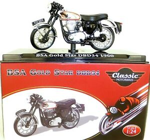 BSA Gold Star DBD34 1960 Motorcycle Classic Atlas 4658104 New 1:24 Boxed HC4 Μ