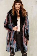 Nasty Gal Collection Presley Faux Fur Coat small new with tag