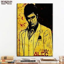 """Alec Monopoly """"The Godfather"""" Oil Painting on Canvas Large Wall Picture 36x24"""""""