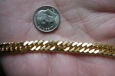 "18kt Yellow GOLD Filled BRACELET Durable Clasp 8 1/2"" Open Cable Links NEW!"