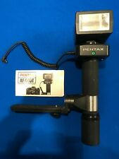 Asahi Pentax AF400T Torch Type Flash Unit - Untested w Battery Adapter
