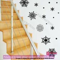20 Large Snowflake wall Stickers, Christmas wall decorations, Xmas wall décor,