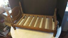 Antique Victorian Bed Walnut Child Miniature Doll Dog Cat Teddy Bear Project