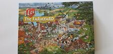THE FARMYARD,1000 PIECE JIGSAW PUZZLE BY MIKE JUPP