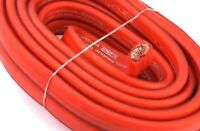 0 Gauge Red Power Ground OFC Wire Strand Copper FLAT Marine Cable 1/0 AWG US