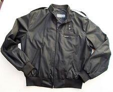 Vintage Members Only Black Café Racer Jacket Mens 42 Coat 80s 90s Windbreaker