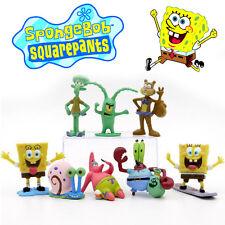 SpongeBob SquarePants Action Figures Kid Display Figurines Toy Cake Topper Decor