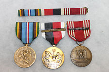 Original Late 1950's Early 1960's Era U.S. Army Medal Group of Three w/Bar