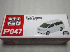TOYOTA ALPHARD White Pocket Tomica P047 Tomy Taito NIB