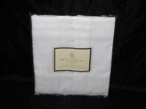 Pottery Barn White Drape Shade Pole Top Linen Cotton NEW 44 x 63 in 4447207