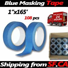 Masking Tape Clean Peel UV Resistant Painting Adhesive Craft,1in x165ft,108rolls