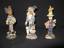 Boyds Bears; The Folkstone Collection: (Lot of 3) Ziggy; Francoise; & Buster