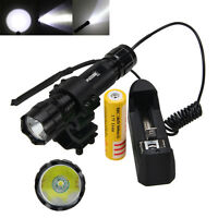 Hunting Tactical Red Laser DOT Sight + 5000LM XM-L T6 LED Flashlight Torch