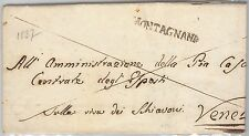 LOMBARDO VENETO storia postale - PRECURSORI busta prefilatelica: Montagnana 1837
