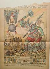 F. Clasquin Dieu Thor la plus barbare vers 1915 Estampe en couleur Mythologie