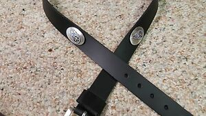 Tennessee Titans Leather Mens Belt Black with Conchos Size 28 to 46
