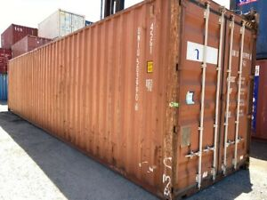 40ft High Cube Used Shipping Container Inc GST