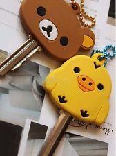 4 PCS San-X Rilakkuma Relax Bear Keychain Key Met Protective*1ea (Four colors)