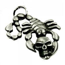 Skorpion mit Schädel - Zinn Anhänger - Amulett