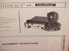 1967 CITI-FONE CB RADIO SERVICE SHOP MANUAL MODEL II (1103-01)