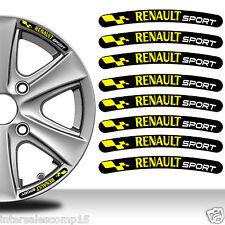 8 Renault Sport Autocollants Stickers Auto Voiture Jante Roue Liseret Wheel C89