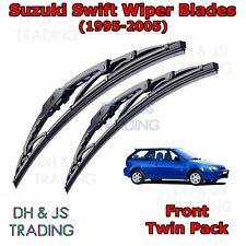 """(95-05) Suzuki Swift MK2 Front Wiper Blades Windscreen 21"""" 18"""" Hook Type"""