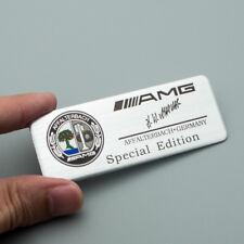 Silver Metal AMG Special Edition Badge Rear Trunk Emblem for C E A SL SLK CLASS