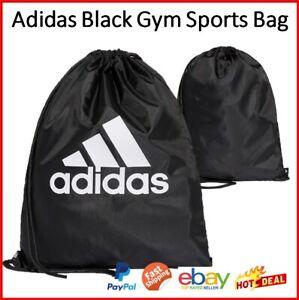 Adidas Gym Sports Bag Sack Black Fitness Workout Gear Storage Travel School bag