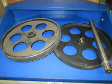 "BANDSAW WHEELS BANDWHEELS 18"" PAIR W SHAFT  BRAND NEW REAL BANDWEELS FOR SAWMILL"