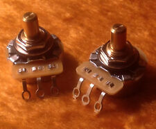 CTS 250K  SOLID Shaft - Audio Taper - 450G Pots / Potentiometers - PAIR (2X)