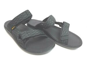 Teva Size 9 Black Leather Sandals New Mens Shoes