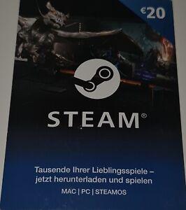 Steam Guthaben Karte 20€