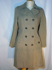 Banana Republic Long Fall Glen Plaid Pattern Double Breasted Coat Size Medium