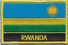 Rwanda Flag Embroidered Patch Badge - Sew or Iron on
