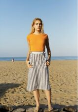 Calder Blake O'Keefe Chambray Stripe Skirt TenOverSix Need Supply Garmentory S