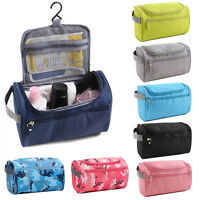 Foldable Travel Cosmetic Case Makeup Toiletry Pouch Wash Organizer Hanging Bag