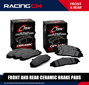 FRONT And REAR Ceramic Brake Pad For Dodge Ram 1500 Van, Durango 2003