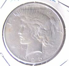 1925 P $1 Peace Silver Dollar Mis Struck Coin ERROR top of Liberty Crown AU