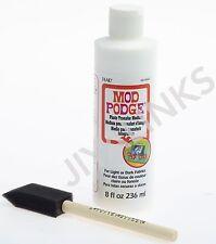 MOD Podge 8 once foto Medium DI TRASFERIMENTO per tessuti Chiaro o Scuro + Pennello Schiuma