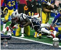 Sony Michel New England Patriots Autographed signed 8x10 photo w=coa =JSA
