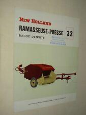 Prospectus Presse New Holland 32  brochure tracteur traktor tractor Prospekt
