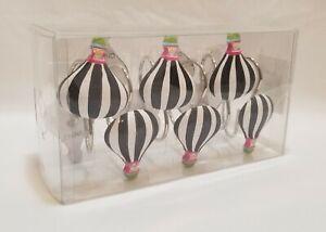 I Love Paris Shower Curtain Hooks Hot Air Balloons 12ct New