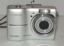 Olympus FE FE-180 6.0MP Digital Camera - Silver 3x Optical Zoom